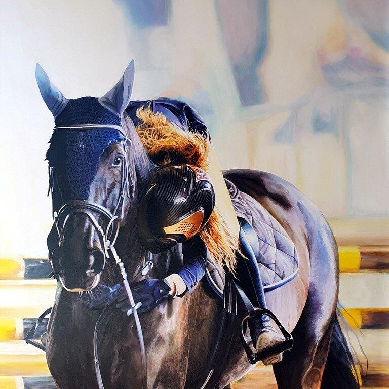 Ritratto di donna a cavallo