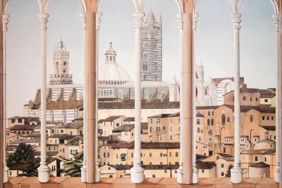 Trompe-l'oeil panorama Toscana - Sandra Petreni - Pittura e Decorazione